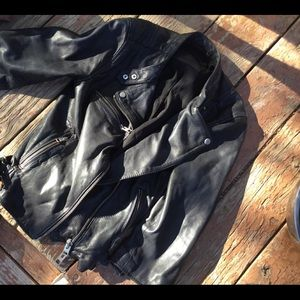 All saints made in USA leather jacket sz 4